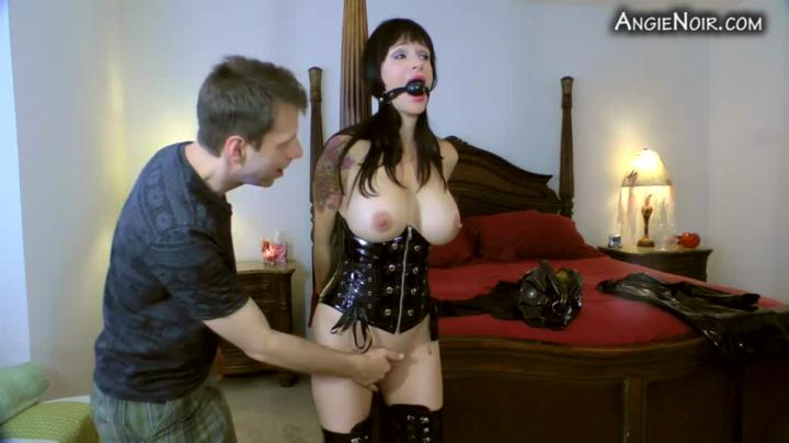 A Taboo Fantasy-angie noir my son handcuffed gagged and forced me to cum-Manyvids