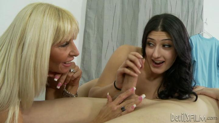 Adulttime-Mothers Teaching Daughters How To Suck Cock 15